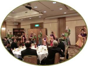 第三部懇親会 よさこい全国大会で最優秀賞を受賞した「ぬまづ熱風舞人」によるよさこい披露などで盛り上がりました